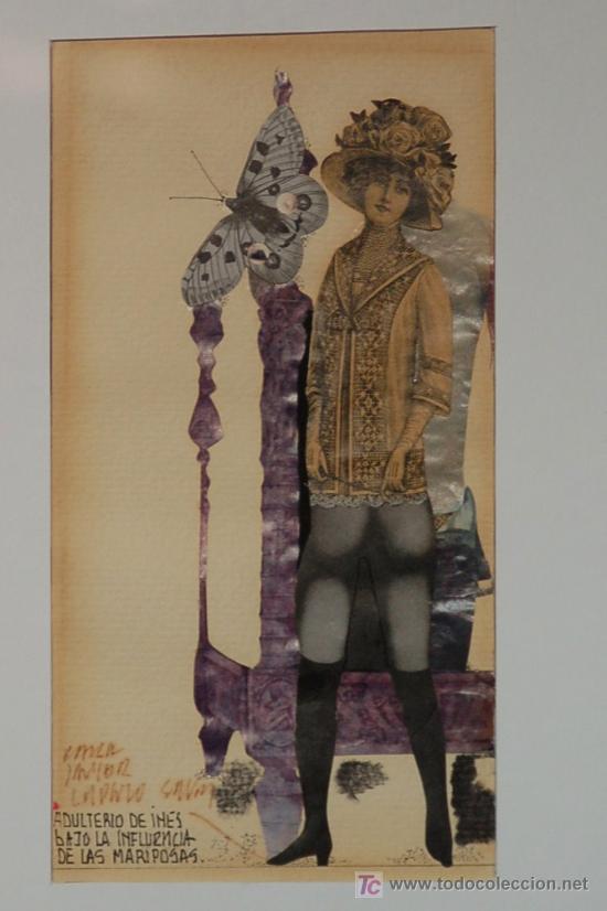LORENZO SAVAL OBRA ORIGINAL PINTURA Y COLLAGE (Arte - Pintura - Pintura al Óleo Contemporánea )