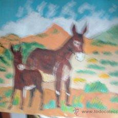 Arte: BURROS TÍPICOS DE MENORCA,ÓLEO SOBRE TABLEX ,50X60 CM-DE CRESPO. Lote 12991784