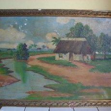 Arte: OLEO LIENZO. PAISAJE FIRMADO Y FECHADO EN 1925. Lote 24461689