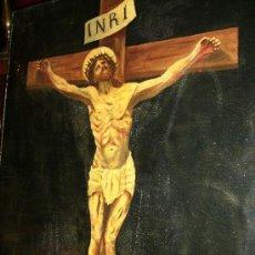 Arte: OLEO SOBRE LIENZO S:XVII; XVIII: JESUS EN LA CRUZ.54X65, FIRMA P.FRACHAIR, ESTADO ACEPTABLE. Lote 26388914