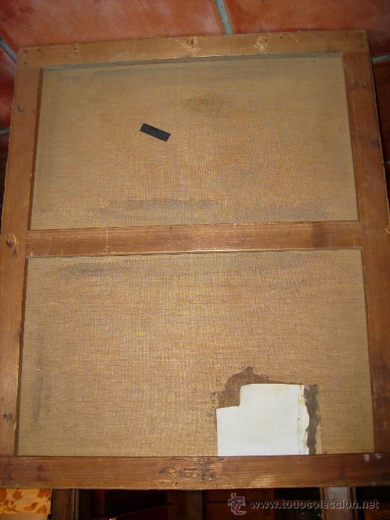 Arte: oleo sobre lienzo S:XVII; XVIII: jesus en la cruz.54x65, firma p.frachair, estado aceptable - Foto 5 - 26388914