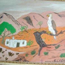 Arte: ÁGUILA PERDICERA EN EL CAMPO, ENMARCADO 4OX5O CM. APROX. AUTOR CRESPO. Lote 22651495
