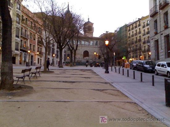 Acuarela De La Costanilla De San Andres Madrid Anos 70