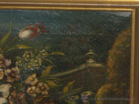 Arte: IMPRESIONANTE ANTIGUO OLEO XVIII-XIX, BODEGON FLORES - Foto 5 - 25719592