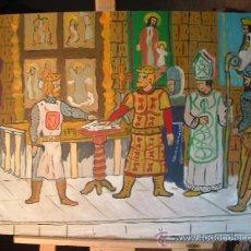 Arte: EL CID ,LA JURA DE SANTA GADEA, ÓLEO EN MADERA 80X60 DE CRESPO,COMPRANDO MAS DE UN CUADRO SIN GASTOS. Lote 15838171