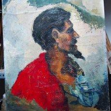 Arte: 1938.- OLEO SOBRE TELA CARTON 61X50. M.GARCIA SANTOS RETRATO PERFIL. Lote 25876456