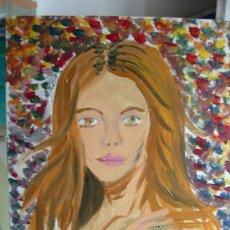Arte: LA MODELO, 46X34 ÓLEO SOBRE LIENZO EN BASTIDOR , DE CRESPO. Lote 12276230