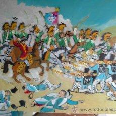 Arte: CARGA DE LA CABALLERIA DE MURAT(JENA), 50X60 ÓLEO EN MADERA DE CRESPO. Lote 19128840