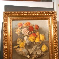 Arte: BODEGÓN. OLEO SOBRE TELA FIRMADO BAIXAS. AÑO 1947. Lote 26007506