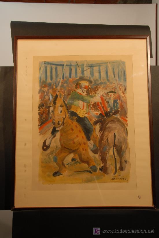 OLEO SOBRE PAPEL FIRMADO A. MUT TORROJA (Arte - Pintura - Pintura al Óleo Moderna sin fecha definida)
