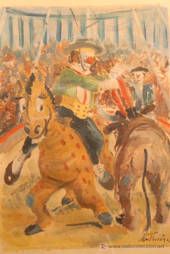 Arte: Oleo sobre papel firmado A. Mut Torroja - Foto 2 - 12469191
