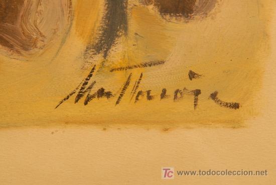 Arte: Oleo sobre papel firmado A. Mut Torroja - Foto 4 - 12469191