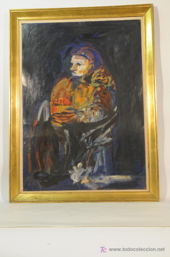OLEO SOBRE CARTÓN FIRMADO JORDI SARRÁ (Arte - Pintura - Pintura al Óleo Moderna sin fecha definida)
