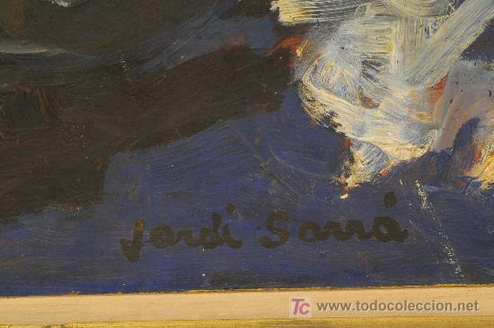 Arte: Oleo sobre cartón firmado Jordi Sarrá - Foto 3 - 12415284