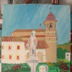 Arte: PECES EN LA FUENTE, TICES , ÓLEO LIENZO BASTIDOR 60X50 DE CRESPO. Lote 16187928