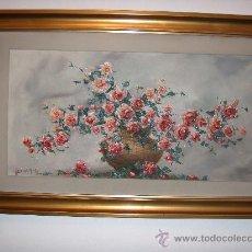 Arte: JUAN DE ESPAÑA - BODEGÓN DE FLORES - 70 X 40 CMS - OLEO SOBRE LIENZO. Lote 27354057