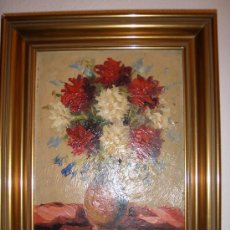 Arte: SALA - BODEGÓN DE FLORES - 30 X 24,5 CMS - OLEO SOBRE TABLEX - SALA - FLORES -. Lote 26533759