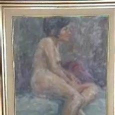 Arte: PINTURA DESNUDO OLEO SOBRE TELA FIRMADO PUIG 60X70CM. Lote 12969532