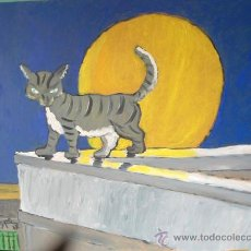 Arte: GASTO Y LUNA , ÓLEO SOBRE TABLEX , 50X60 CM. DE CRESPO. Lote 19128838