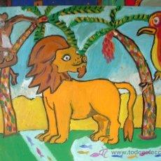 Arte: LEÓN IRREAL, ÓLEO SOBRE TABLEX , 50X60 CM. DE CRESPO. Lote 13033659