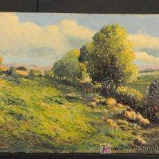 Arte: PAISAJE. OLEO SOBRE TABLA FIRMADO RAMON LARROSA. AÑO 1949. Lote 27438193