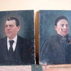 Arte: PAREJA DE OLEO LIENZO. RETRATOS. FIRMADOS DOMINGO SOLER GILI. 1895. BARCELONA. Lote 27220448