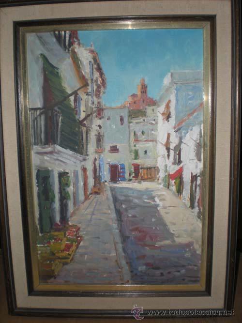 OLEO CALLE PUEBLO (Arte - Pintura Directa del Autor)