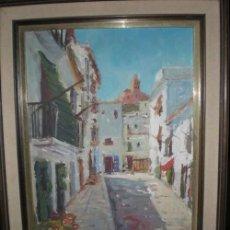 Arte: OLEO CALLE PUEBLO. Lote 25815158