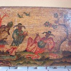 Arte: INTERESANTE PINTURA ANTIGUA CHINA. TEMA CHINO. SIGLO XVIII. DE MUSEO. Lote 26643786