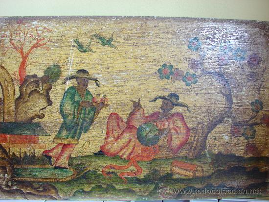 Arte: INTERESANTE PINTURA ANTIGUA CHINA. TEMA CHINO. SIGLO XVIII. DE MUSEO - Foto 2 - 26643786