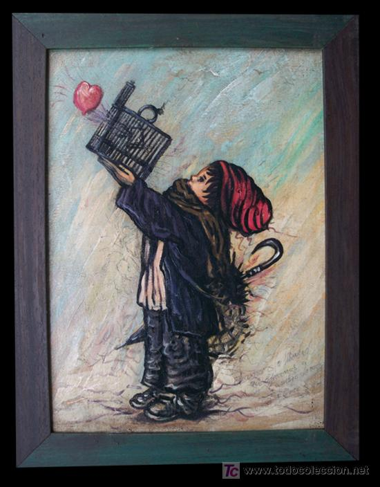 CUADRO -EL AMOR ES LA LIBERTAD (Arte - Pintura - Pintura al Óleo Moderna sin fecha definida)