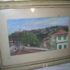 Arte: B2-012. VISTAS PUEBLO. TECNICA MIXTA. FIRMA ILEGIBLE. ESCUELA ITALIANA. SIGLO XIX. Lote 14666909