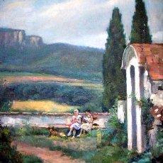Arte: OLEO SOBRE LIENZO. FIRMADO ELADIO PUCH EN 1960. Lote 26430466