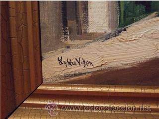 Arte: BONITO OLEO SOBRE TABLA AÑO 1961 CALLE SAN PEDRO PALMA DE MALLORCA PINTOR LYKKE VIGEN - Foto 2 - 25494575