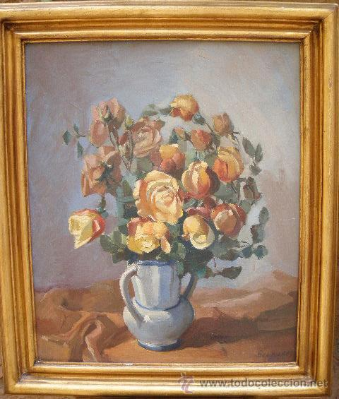 JAUME BERNADES PONT. FLORERO (1910-1973) (Arte - Pintura - Pintura al Óleo Moderna sin fecha definida)