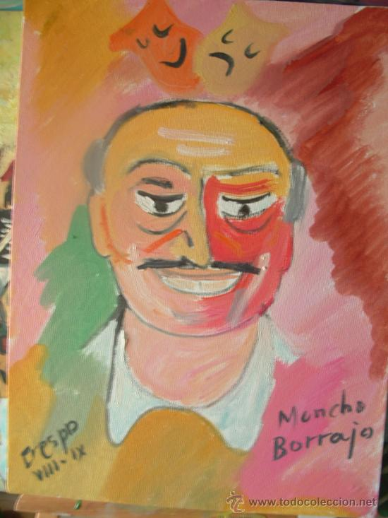 MONCHO BORRAJO, ÓLEO SOBRE LIENZO 30X40 CM. DE CRESPO (Arte - Pintura - Pintura al Óleo Contemporánea )