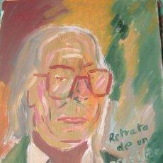 Arte: RETRATO DE UN ESCRITOR 30X40 CM. ÓLEO SOBRE LIENZO EN BASTIDOR DE CRESPO. Lote 16288656