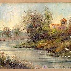 Arte: BONITA MINIATURA- OLEO COSTUMBRISTA-FIRMADA CASTILLO. Lote 22509189