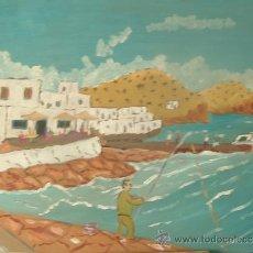 Arte: CABO DE GATA ALMERIA , ISLETA DEL MORO 50X60 CM. APROX, DE CRESPO. Lote 15081253