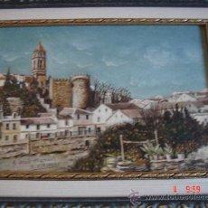 Arte: ÓLEO S/TABLA DE R. ESPINAR. BARRIO DE LA VILLA DESDE LA CALLE LOS HUERTOS DE CABRA. 43,5X34,5 . Lote 27274568