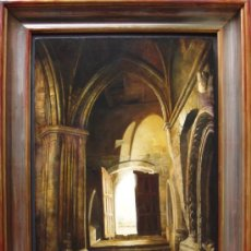 Arte: OLEO SOBRE LIENZO ENMARCADO, 65X45, JUSTO JIMENO. Lote 15481391