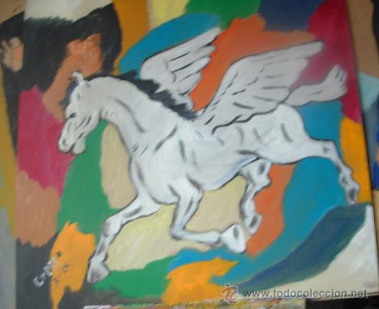 PEGASO ,ÓLEO MADERA 50X60 CM. DE CRESPO (Arte - Pintura - Pintura al Óleo Contemporánea )
