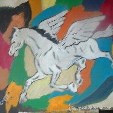 Arte: PEGASO ,ÓLEO MADERA 50X60 CM. DE CRESPO. Lote 15492414