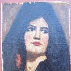 Arte: OLEO SOBRE CARTÓN - FIRMADO ENRIQUE J. CRUCET. 1895-1979. ORIGINAL. BUSTO DE MUJER. Lote 26716135