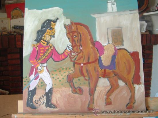 DRAGÓN INGLÉS 2 ,ÓLEO SOBRE MADERA ,40X40 CM. DE CRESPO (Arte - Pintura - Pintura al Óleo Contemporánea )