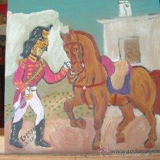 Arte: DRAGÓN INGLÉS 2 ,ÓLEO SOBRE MADERA ,40X40 CM. DE CRESPO. Lote 18599701