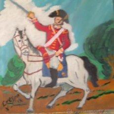 Arte: DRAGÓN INGLÉS 3, ÓLEO SOBRE MADERA DE 40X40 CM. DE CRESPO. Lote 18614171