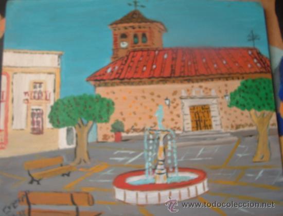 ENIX ,AL PUJARRA ,ÓLEO SOBRE MADERA 50X40 CM. DE CRESPO (Arte - Pintura - Pintura al Óleo Contemporánea )