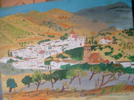 TURÓN PUEBLO DE LA ALPUJARRA, ÓLEO SOBRE LIENZO EN BASTIDOR , 70X60 APROX.DE CRESPO (Arte - Pintura - Pintura al Óleo Contemporánea )