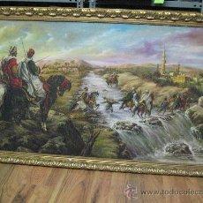 Arte: CUADRO ANTIGUO - OLEO SOBRE LIENZO, MARCO IMPORTANTE, 1,65 X 93 CM. . FIRMA S.TORRES TOBARUELA . Lote 27184044